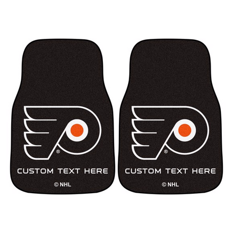 NHL - Philadelphia Flyers 2-piece Carpet Car Mat Set 17