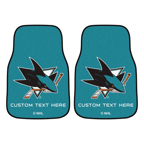 NHL - San Jose Sharks 2-piece Carpet Car Mat Set 17