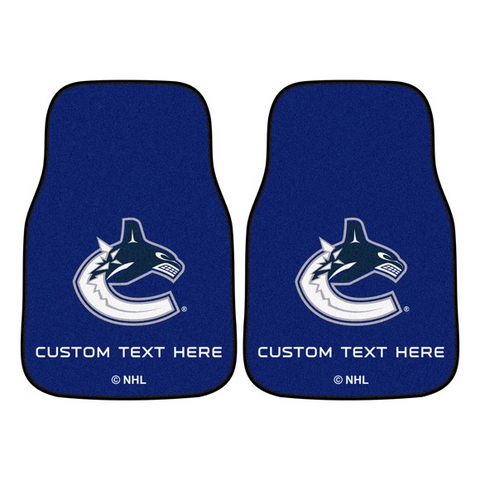 NHL - Vancouver Canucks 2-piece Carpet Car Mat Set 17