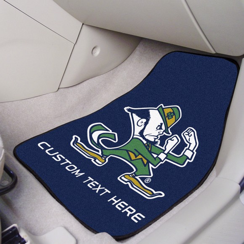 Notre Dame 2-piece Carpet Car Mat Set 17