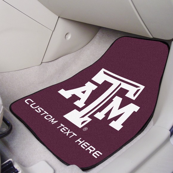 Texas A&M University 2-piece Carpet Car Mat Set 17