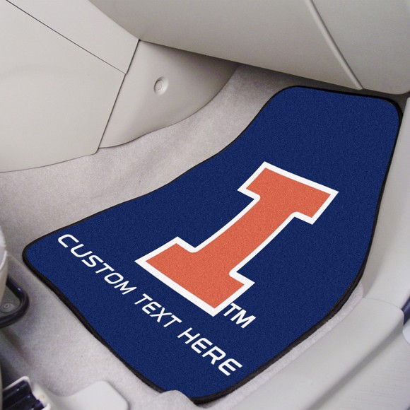 University of Illinois 2-piece Carpet Car Mat Set 17