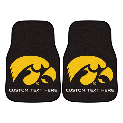 University of Iowa 2-piece Carpet Car Mat Set 17