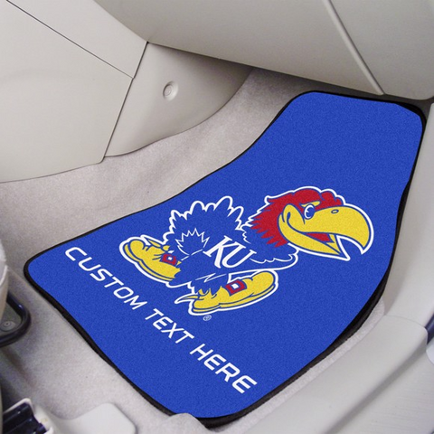 University of Kansas 2-piece Carpet Car Mat Set 17