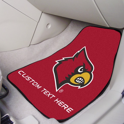 University of Louisville 2-piece Carpet Car Mat Set 17