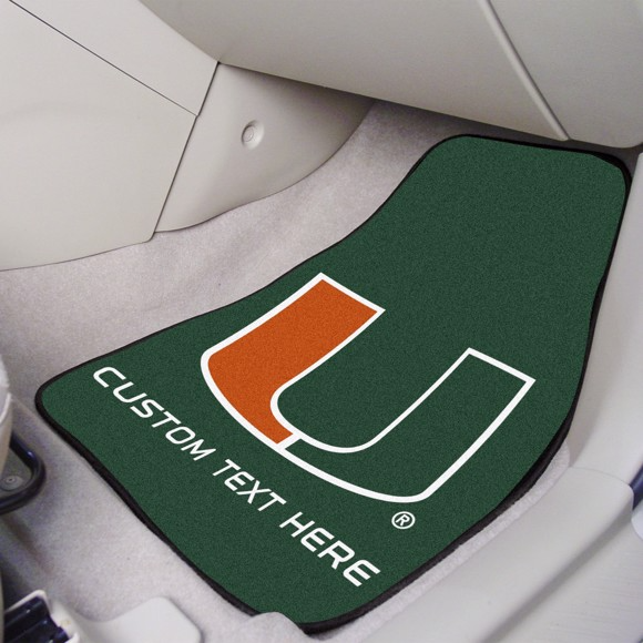 University of Miami 2-piece Carpet Car Mat Set 17