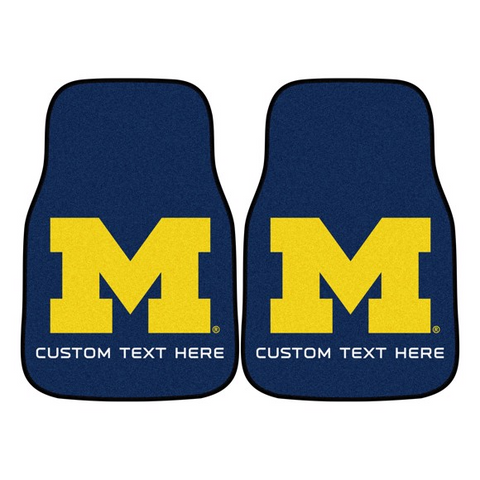 University of Michigan 2-piece Carpet Car Mat Set 17