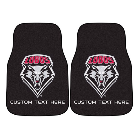 University of New Mexico 2-piece Carpet Car Mat Set 17