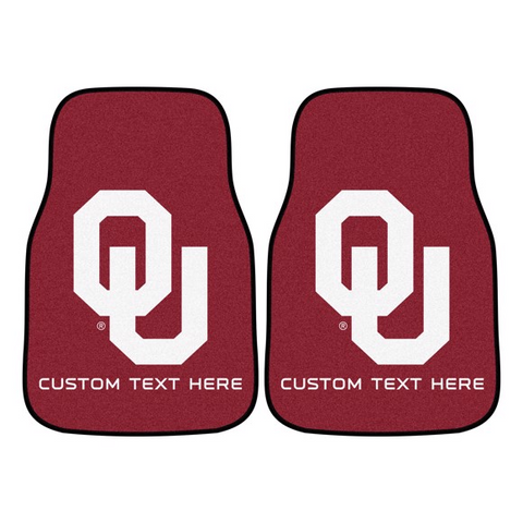 University of Oklahoma 2-piece Carpet Car Mat Set 17