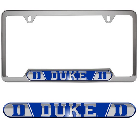 Duke Blue Devils Embossed License Plate Frame