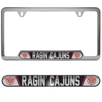 Louisiana - Lafayette Embossed License Plate Frame