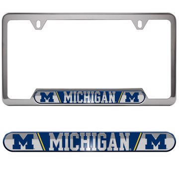 University Of Michigan Embossed License Plate Frame