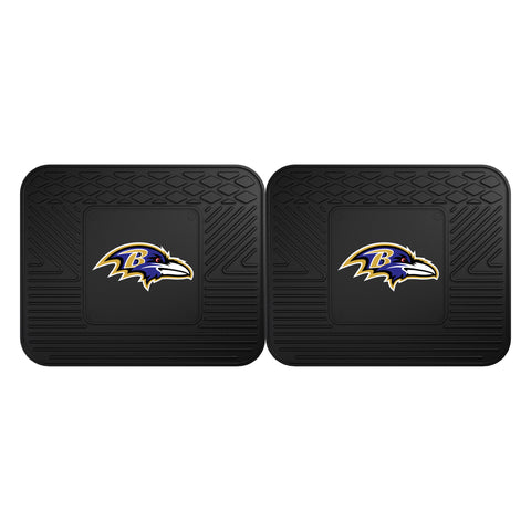 Baltimore Ravens Car Truck Front (Vinyl/Carpet) & Rear (Vinyl) Floor Mats