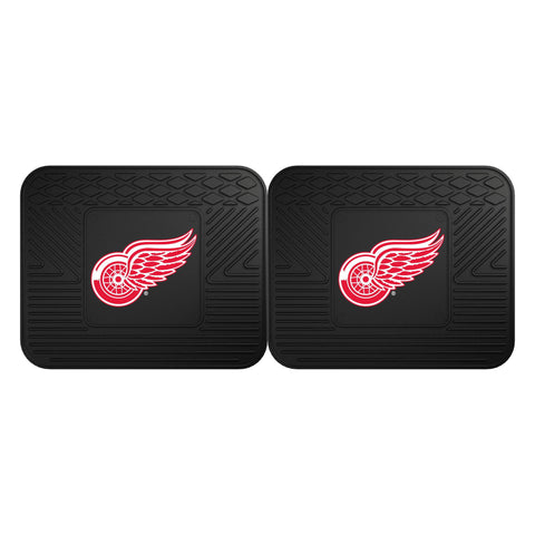 Detroit Red Wings Car Truck Front (Vinyl/Carpet) & Rear (Vinyl) Floor Mats