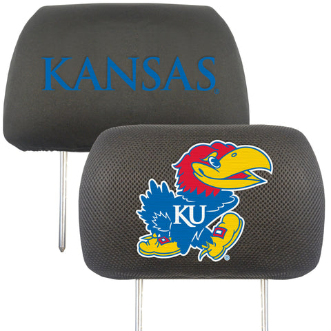 University of Kansas Set of 2 Headrest Covers