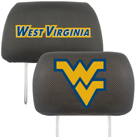 West Virginia University Set of 2 Headrest Covers