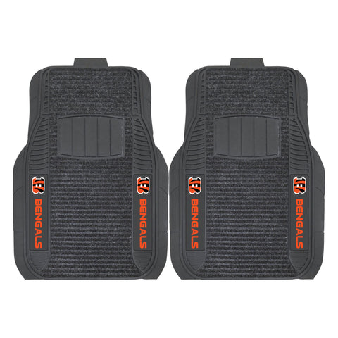 Cincinnati Bengals Car Truck Front (Vinyl/Carpet) & Rear (Vinyl) Floor Mats