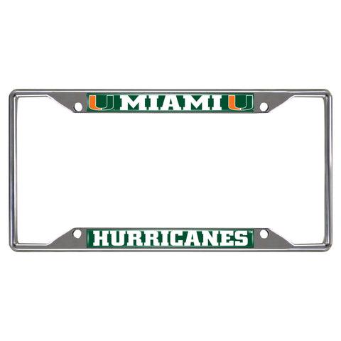University of Miami  License Plate Frames