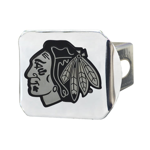 Chicago Blackhawks Chrome Hitch Cover 3.4