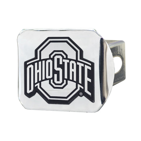 Ohio State Buckeyes Chrome Hitch Cover- Chrome 3.4