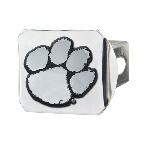 Clemson Tigers Chrome Hitch Cover - Chrome 3.4