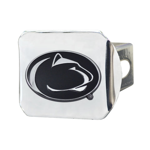 Penn State Nittany Lions Chrome Hitch Cover- Chrome 3.4
