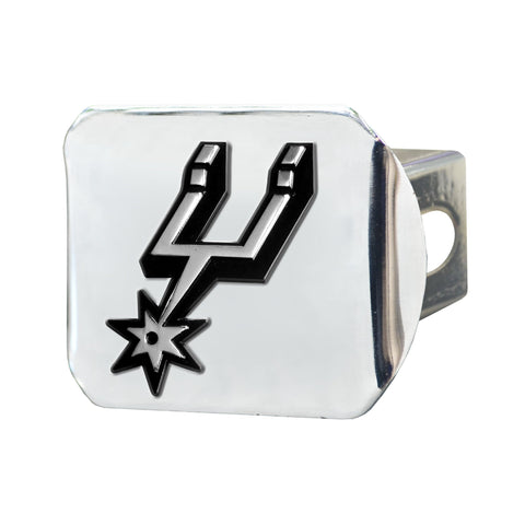 San Antonio Spurs Chrome Hitch Cover 3.4