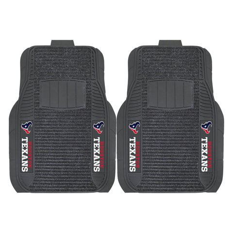 Houston Texans Car Truck Front (Vinyl/Carpet) & Rear (Vinyl) Floor Mats