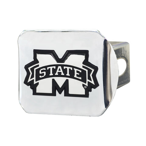 Mississippi State Bulldogs Chrome Hitch Cover- Chrome 3.4