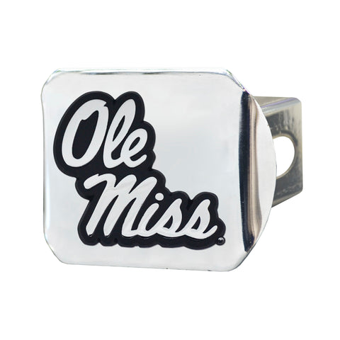 University of Mississippi (Ole Miss) Chrome Hitch Cover - Chrome 3.4