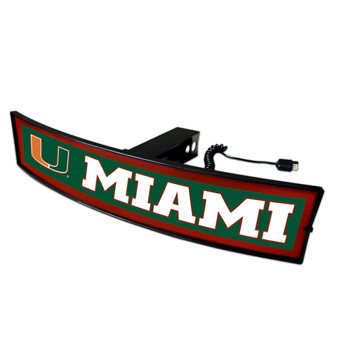 Miami Hurricanes Light Up Hitch Cover 21