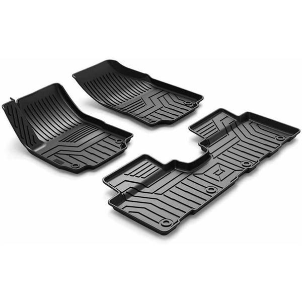 Custom Fit  3D TPE All Weather Car Floor Mats Liners for Chevy Equinox 2018-2020 (1st & 2nd Rows, Black)