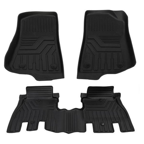 Floor Mats For 2014-2018 Jeep Wrangler / JK Unlimited Liners All Weather 3pc Set