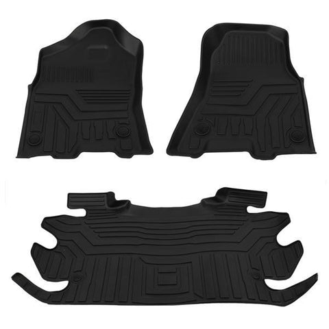 Floor Mats for 2012-2019 Ram 1500 2500 3500 Crew Cab 1st and 2nd Row All Weather