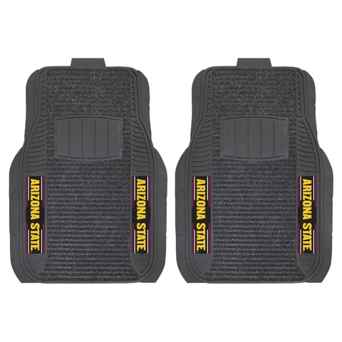 Arizona State 2-pc Front (Vinyl/Carpet) Car Mat Set 21