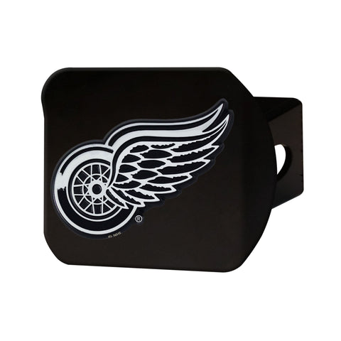 Detroit Red Wings Chrome Hitch Cover - Black 3.4