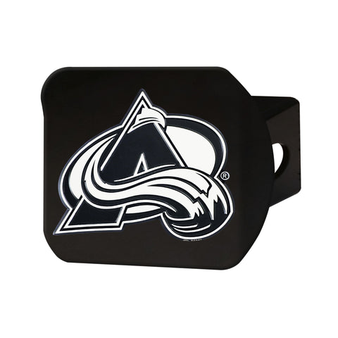 Colorado Avalanche Chrome Hitch Cover - Black 3.4