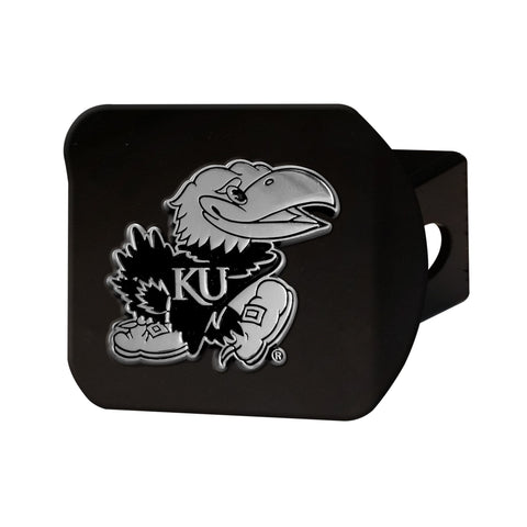 Kansas Jayhawks Chrome Hitch Cover - Black 3.4