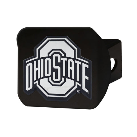 Ohio State Buckeyes Chrome Hitch Cover - Black 3.4