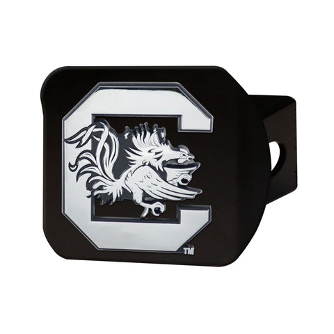 South Carolina Gamecocks Chrome Hitch Cover - Black 3.4