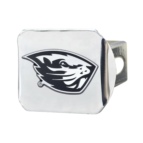 Oregon State University Chrome Hitch Cover- Chrome 3.4
