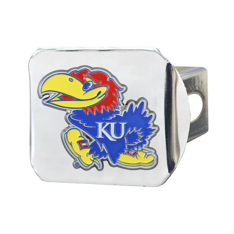 Kansas Jayhawks Color Hitch Cover 3.4