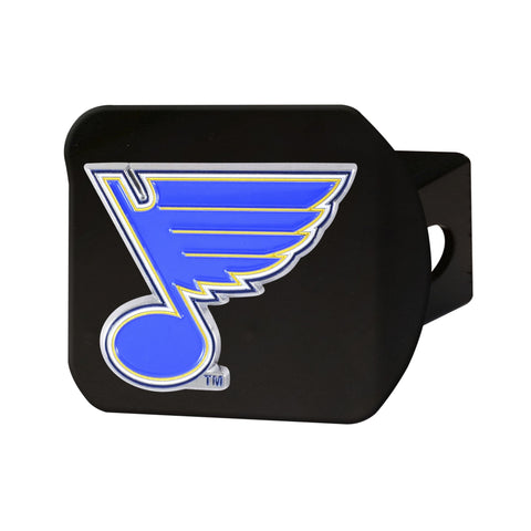St. Louis Blues Color Hitch Cover - Black 3.4