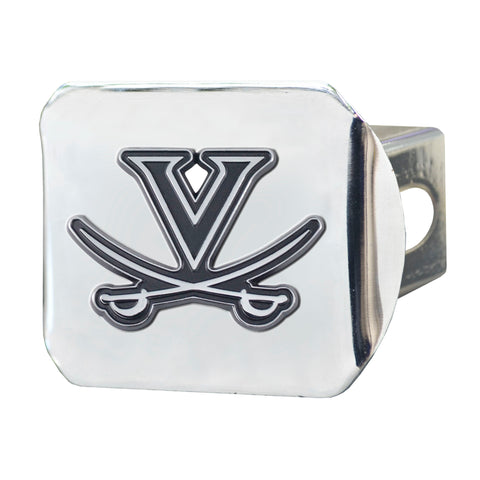 University of Virginia Chrome Hitch Cover- Chrome 3.4
