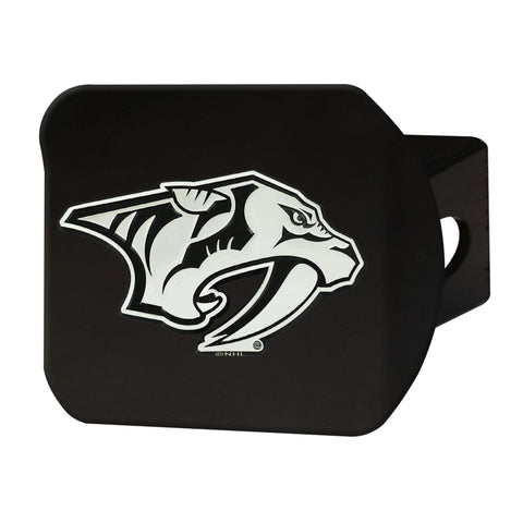 Nashville Predators Chrome Hitch Cover - Black 3.4