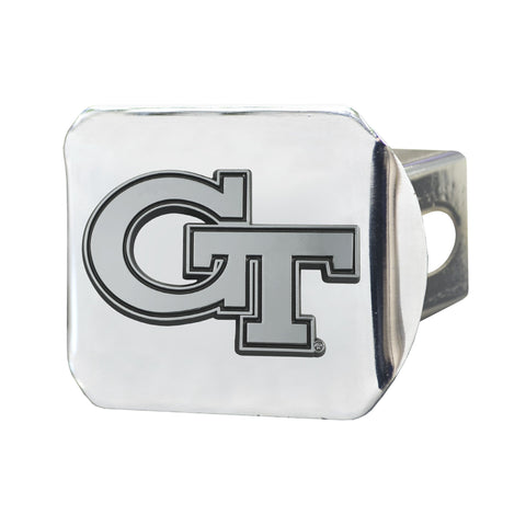 Georgia Tech Yellow Jackets Chrome Hitch Cover 3.4