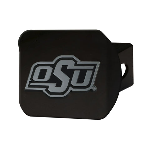 Oklahoma State Cowboys Chrome Hitch Cover - Black 3.4