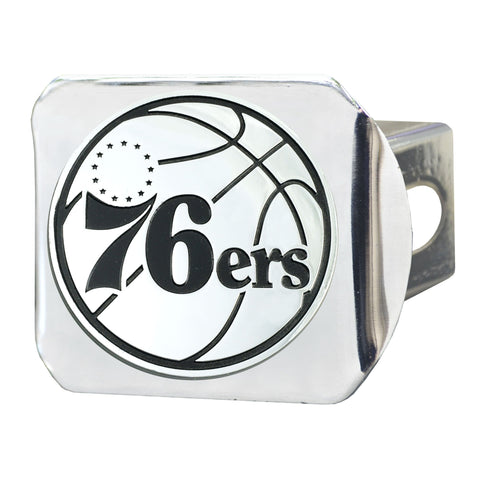 Philadelphia 76ers Chrome Hitch Cover 3.4
