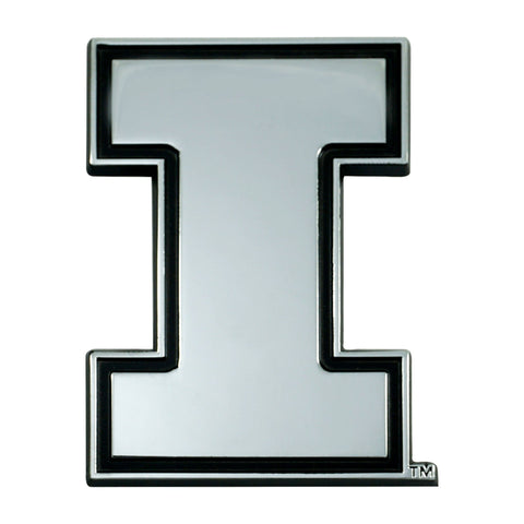 Fighting Illini 3D Chrome Emblem