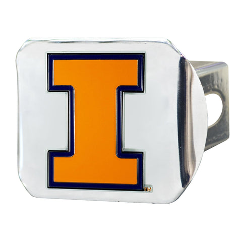 Illinois Fighting Illini Color Hitch Cover 3.4